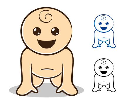 Baby crawling Illustration