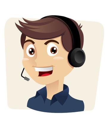 telemarketer: customer service man