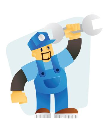 Mechanic mascot