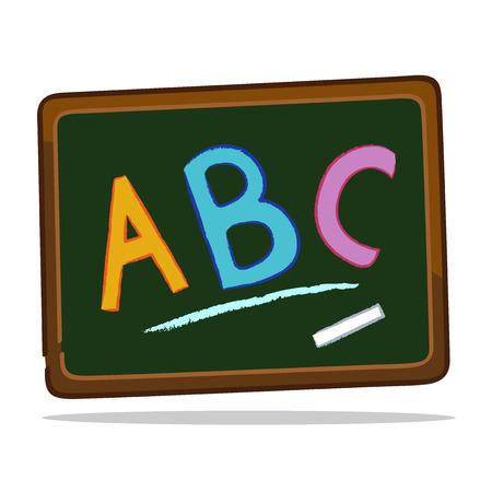 Blackboard with chalk alphabets