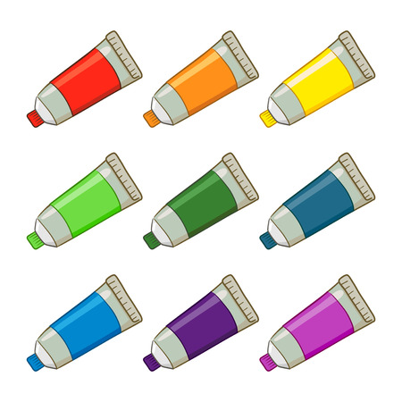 Colorful Paint Tubes Illustration