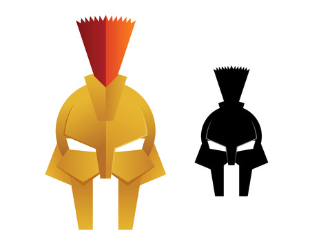 Gladiator helmet Illustration