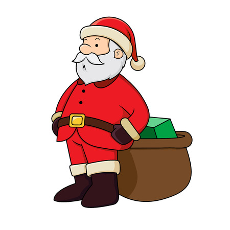Santa Clause with present