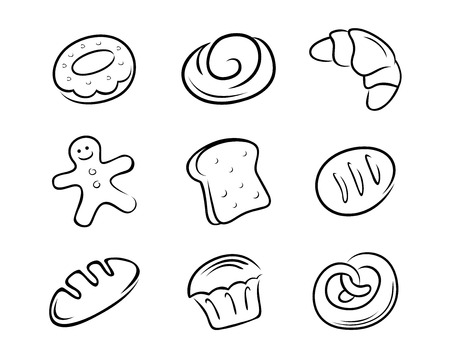 Type of bread Vector