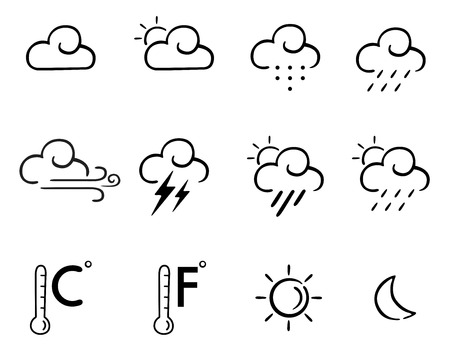 wheather set icons