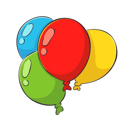 Vector ilustración de un Globos de colores