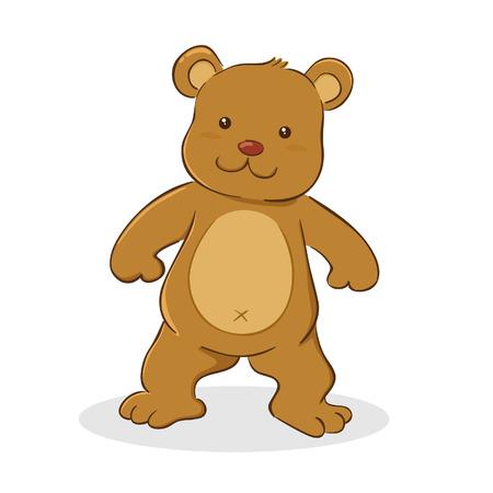 Vector illustration of a cute teddy bear