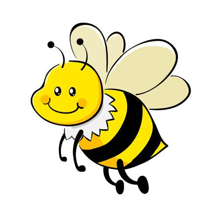 Vector illustration of cute honey bee Vector