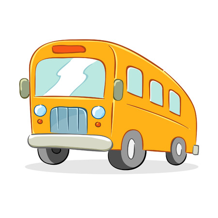 drive ticket: Vector illustration of  a school bus