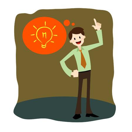 Vector illustration of a Businessman having an idea Illustration