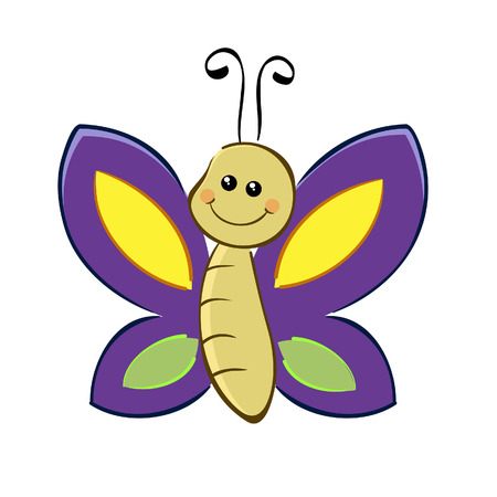 Vector illustration of a cute butterfly