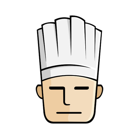 Vector illustration of a chefs face
