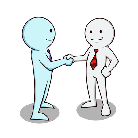 pact: Two business people shaking hands