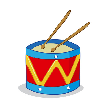 Vector illustration of a toy drum