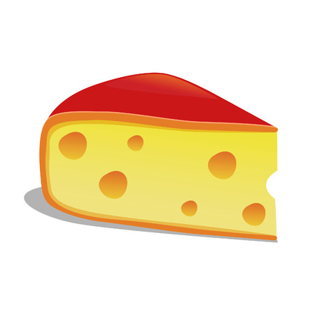 Vector illustration of a slice of Edam cheese Illustration