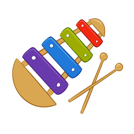 Vector illustration of colorful xylophone Vector