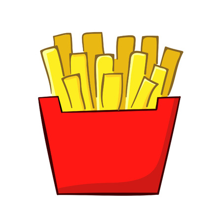illustration of a classic french fries Vector