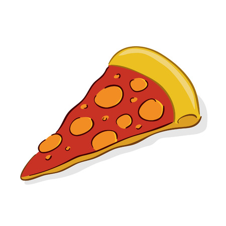 illustration of a slice of Italian pizza Vector