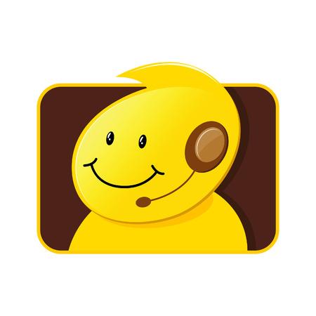 Customer Service Icon Male Vector