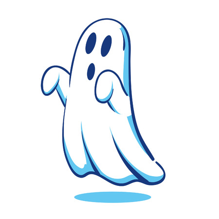 Spooky Ghost  イラスト・ベクター素材