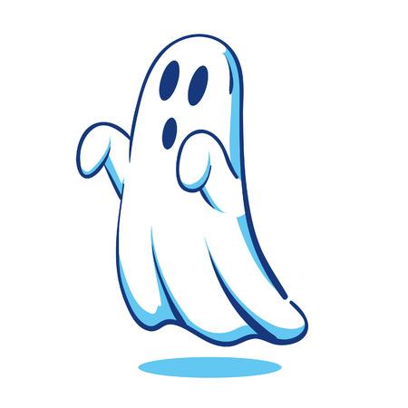 Spooky fantasma Ilustración de vector