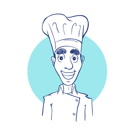 Sketch drawing of a chef Illustration