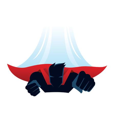 Superheld vliegen Stock Illustratie