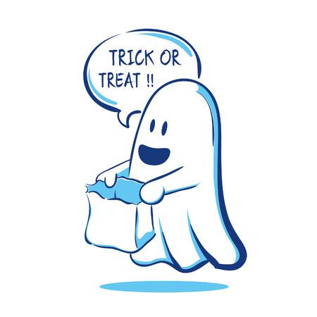 tratar: A do�ura ou travessura do fantasma Ilustração