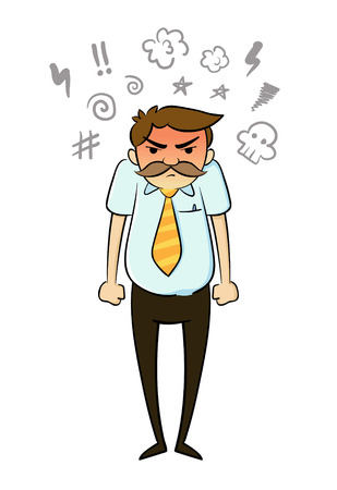 Angry Businessman Imagens - 33705075