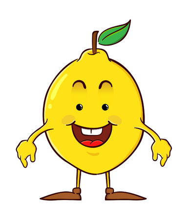 limon caricatura: Lim�n personaje de dibujos animados
