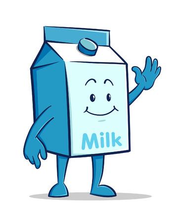 Milk box Cartoon Character Illustration