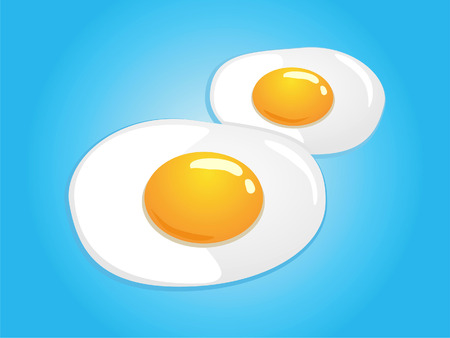Vector Illustration of fried egg sunny side up