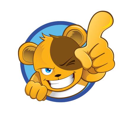 Vector illustration of a cute  bear mascot