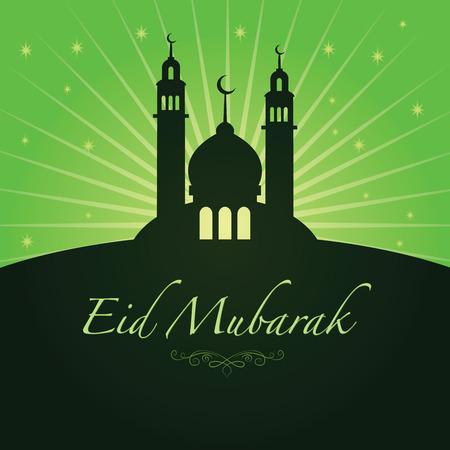 Vector illustration of eid mubarak greetings Illustration