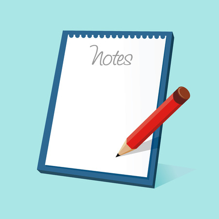 commentary: Vector illustration of a notepad and a pencil