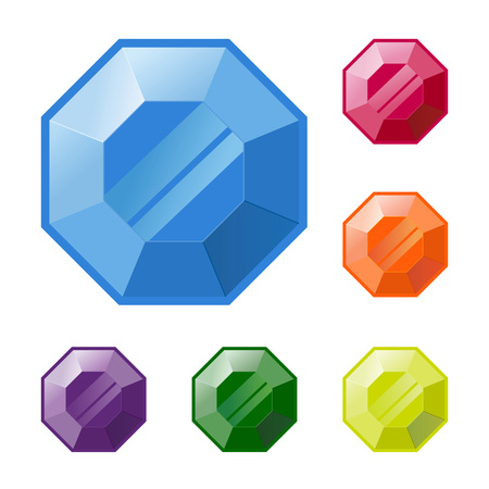 gemstone: Group of colorful gemstone in vector illustration Illustration