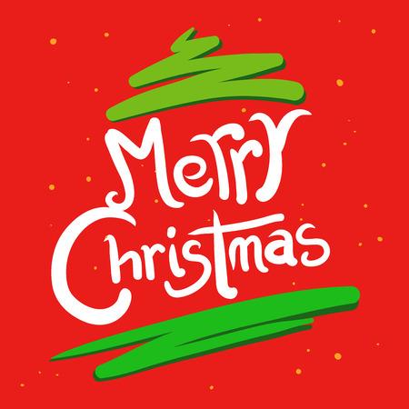 hand writing: Hand writing christmas greetings, in brush stroke vector illustration