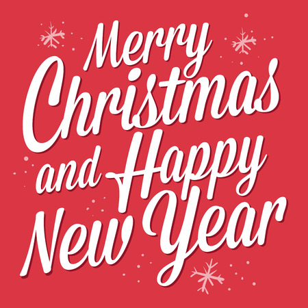 Merry Christmas an Happy New Year greetings in vector illustration