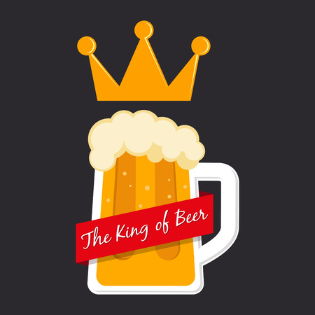 pilsener: The king of beer icon in vector illustration
