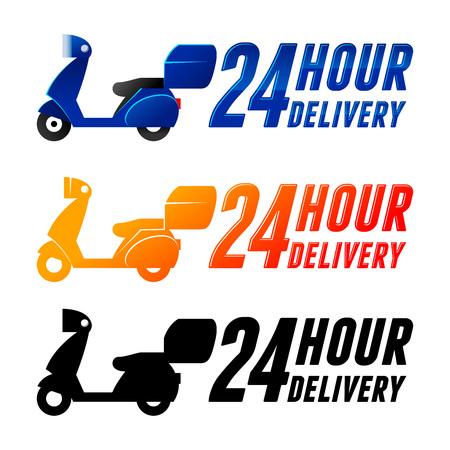 non: Non stop delivery service icon, vector illustration