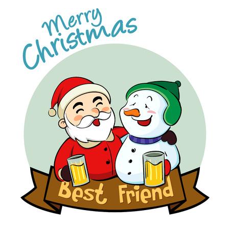 borracho: Pap� Noel y mu�eco de nieve mejor amigo en Navidad