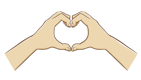 forming: Two Hands Forming a Love Symbol