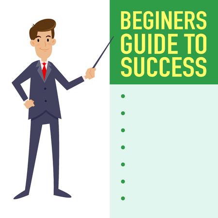 newbie: Businessman guide to success tutorial