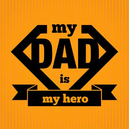 Mijn Papa is Mijn Held Symbol, Vector Illustratie
