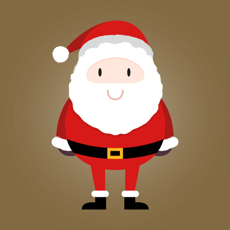Cute mini Santa Claus smiling illustration Illustration