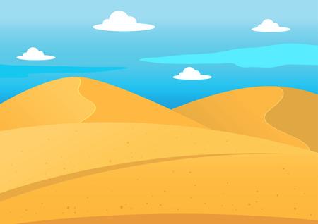 Natürliche Wüstenlandschaft Hintergrund, Illustration