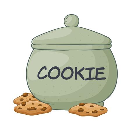 Vector illustration of a hand drawn big cookie jar