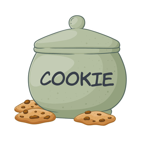 Vector illustration of a hand drawn big cookie jar