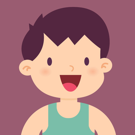 life style people: Happy and healthy little boy smiling, vector illustration