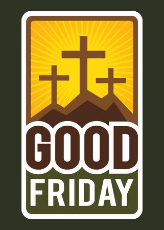 good: Vector illustration of Christianity Good Friday greeting symbol Illustration